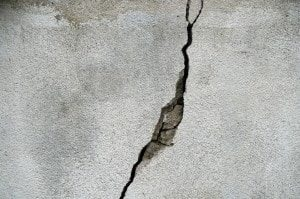 crack in cement foundation crack virginia