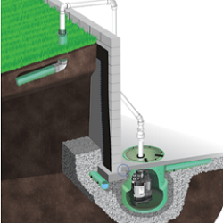 drainage system water seepage sump pump