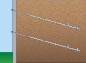 Helical Tieback Wall Anchor