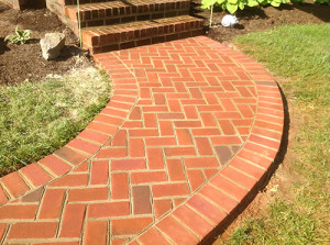 Brick walkway repair