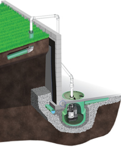 exterior drainage system