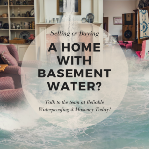 selling home with basement water, buying home with basement water