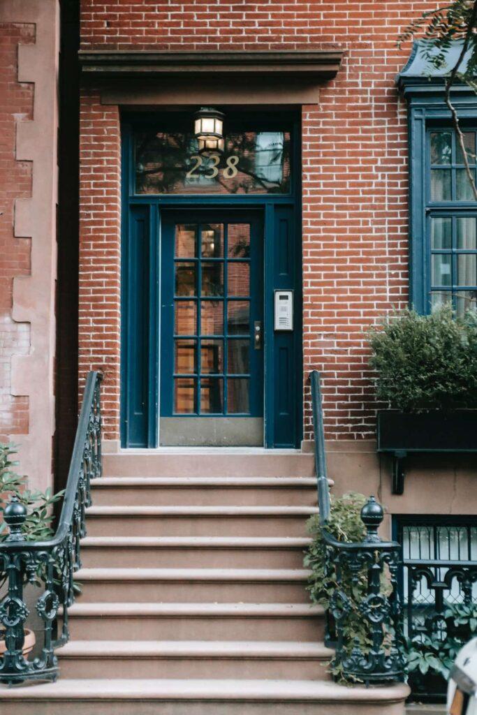 entryway of home; brick repair