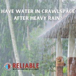 heavy rain falling over home